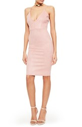Missguided Women's Faux Suede Body Con Dress