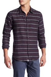 Ourcaste Bradly Long Sleeve Woven Stripe Shirt Multi