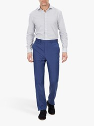 Jaeger Silk Linen Regular Fit Suit Trousers Light Blue