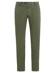 J.W.Brine James Stretch Cotton Chino Trousers Green