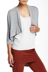 Riller And Fount Long Sleeve Cropped Cardigan Gray