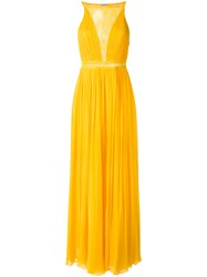 Tufi Duek Pleated Gown Silk Unavailable