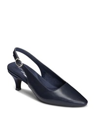 Aerosoles Chardonnay Sling Back Shoes Navy Blue