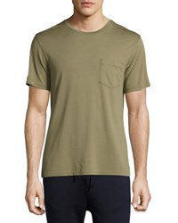 Ralph Lauren Pima Cotton Pocket T Shirt Sage Green