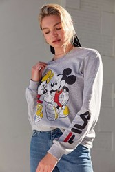 Fila Uo Mickey Minnie Long Sleeve Disney Tee Grey