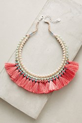 Anthropologie Merrily Bib Necklace Medium Pink