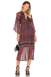 Boemo Bastille Midi Dress Wine