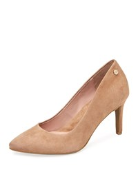 Taryn Rose Tamara Suede Pumps Light Beige