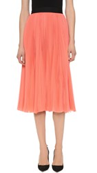 J. Mendel Sunburst Pleated Skirt Coral