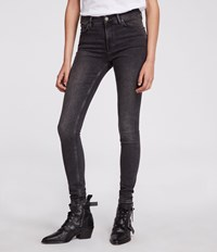 Allsaints Grace Skinny Jeans Washed Black