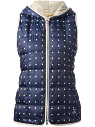 Fay Quilted Gilet Blue