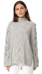 Robert Rodriguez Cable Knit Sweater Ivory Light Grey
