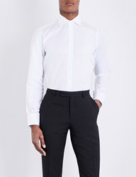 Turnbull And Asser Basketweave Slim Fit Cotton Shirt White
