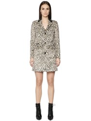 Just Cavalli Leopard Printed Faux Pony Hair Coat