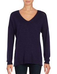 Lord And Taylor Mini Cable Knit Top Evening Blue