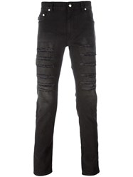 Love Moschino Distressed Slim Jeans Black