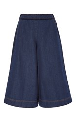 Manoush Denim Crochet Flare Pant Dark Wash