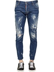Dsquared 16Cm Sexy Twist Distressed Denim Jeans