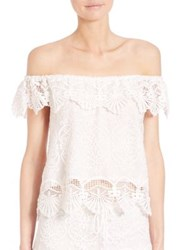 Nightcap Clothing Seashell Off The Shoulder Blouse White