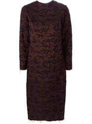 Aries Embroidered Dress Brown