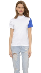 Jacquemus Colorblock Tee White Electric Blue