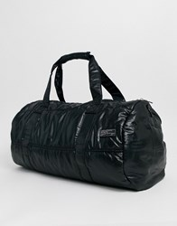 New Look Holdall In Quilted Black