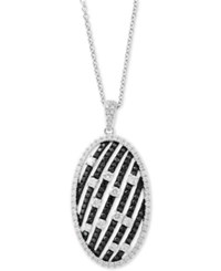 Effy Diamond Oval 18 Pendant Necklace 1 1 4 Ct. T.W. In 14K White Gold