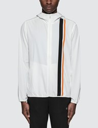 Calvin Klein Performance Stripe Blocking Hooded Wind Jacket
