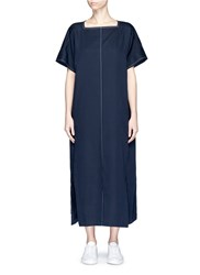 Ffixxed Studios 'Ayako' Contrast Stitch Maxi T Shirt Dress Blue