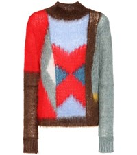 Chloe Mohair And Wool Blend Sweater Multicoloured