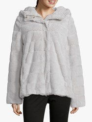 Betty Barclay Faux Fur Jacket Grey White