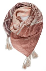 Johnny Was Women's Plate Silk Scarf Mixed Print