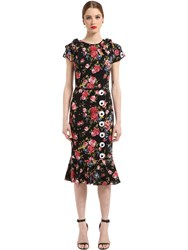 Dolce And Gabbana Roses Printed Silk Charmeuse Dress