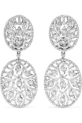 Buccellati 18 Karat White Gold Diamond Earrings One Size
