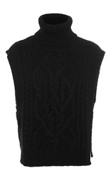 Isabel Marant Grant Cable Knit Sweater Black