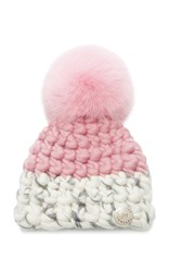 Mischa Lampert Children's Deep Color Block Beanie Pink