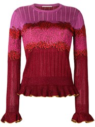 Marco De Vincenzo Floral Knitted Top Multicolour