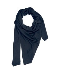Christophe Lemaire Asymmetric Cashmere Scarf Navy