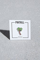 Forever 21 Pintrill Palm Tree Pin Brown Green