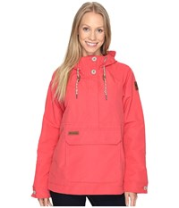 Columbia South Canyon Creek Anorak Sunset Red Women's Coat Multi