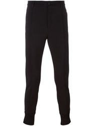 Dolce And Gabbana Gathered Ankle Tailored Trousers Black