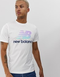 New Balance T Shirt With Large Logo In White White