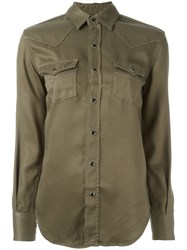 Saint Laurent Military Shirt Green