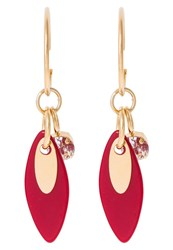 Sabrina Dehoff Cherry Moon Leaf Exclusive Earrings Goldcoloured