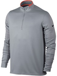Nike Men's Dri Fit Half Zip Jumper Grey