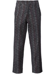 Aganovich Striped Trousers Black