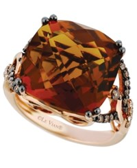 Le Vian Quartz 13 1 2 Ct. T.W. And Diamond 1 3 Ct. T.W. Ring In 14K Rose Gold
