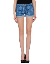 Mother Denim Shorts Blue