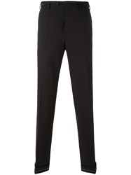 Brioni Slim Fit Pocket Trousers Men Spandex Elastane Virgin Wool 50 Black