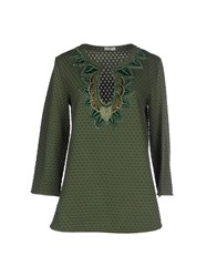 Le Ragazze Di St. Barth Topwear Sweatshirts Women Military Green